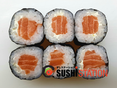 Foto Salmon cheese maki